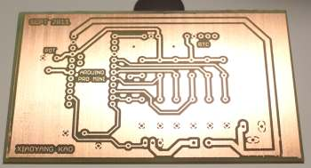 Custom etched PCB with photoresist