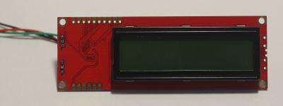 Sparkfun serial lcd module