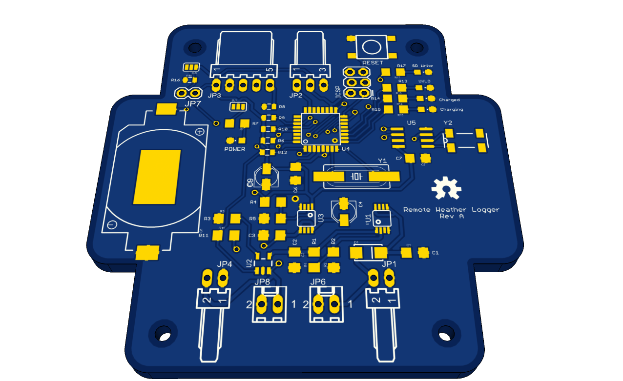 PCB from remote weather logger.