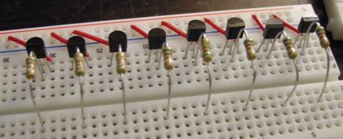 2n5401 with base transistors